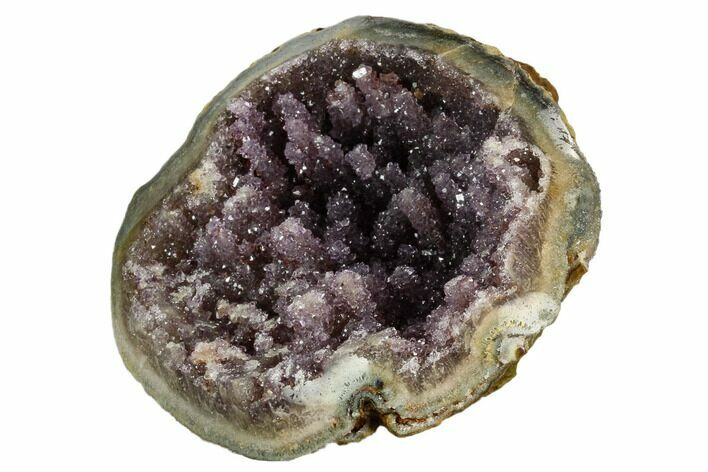 "3.7"" Unique Amethyst Geode Section  - Uruguay"