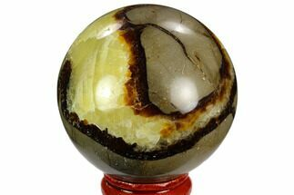 "2.2"" Polished Septarian Sphere - Madagascar For Sale, #122906"