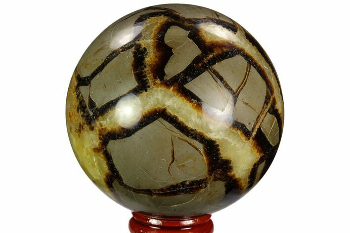 "2.85"" Polished Septarian Sphere - Madagascar"