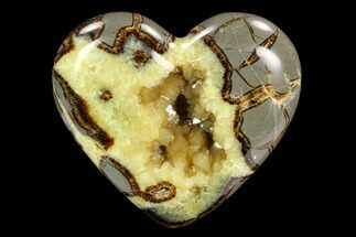 "3.9"" Polished Utah Septarian Heart - Beautiful Crystals For Sale, #123857"