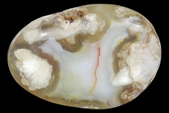 "2.6"" Polished Flower Agate Palm Stone - Madagascar"