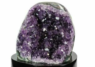 "Buy 5.0"" Tall, Amethyst Cluster With Wood Base  - Uruguay - #121480"