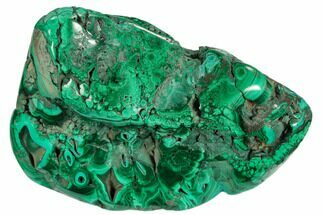 "3.2"" Polished Malachite Specimen - Congo For Sale, #125780"