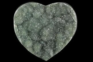 "3.2"" Green Quartz Heart - Uruguay For Sale, #123704"