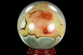 "5"" Polished Polychrome Jasper Sphere - Madagascar For Sale, #126509"