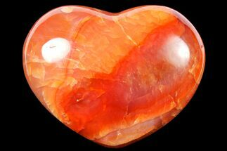 "2.7"" Colorful Carnelian Agate Heart For Sale, #125822"