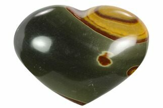 "Buy 2"" Wide, Polychrome Jasper Heart - Madagascar - #126712"