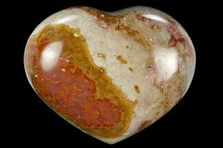 "Buy 2.3"" Wide, Polychrome Jasper Heart - Madagascar - #126715"