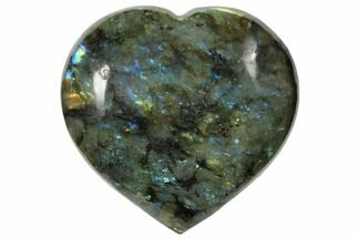 "Buy 4.7"" Flashy Polished Labradorite Heart - Madagascar - #126691"