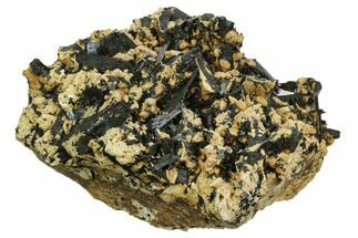 "Buy 8.2"" Arfvedsonite Crystals in Feldspar - Imilchil, Morocco - #127555"