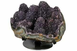 "10.1"" Wide Amethyst ""Stalactite"" Formation On Metal Stand - Uruguay For Sale, #128081"