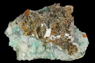 Aurichalcite & Calcite - Fossils For Sale - #127197