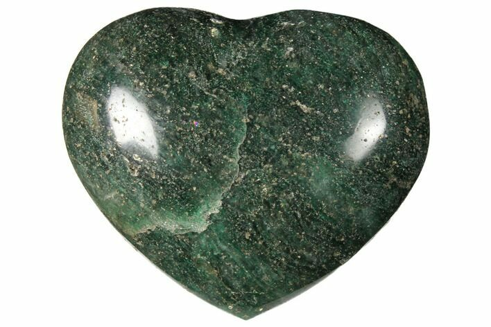 "2.9"" Polished Fuchsite Heart - Madagascar"