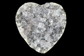 "Buy 1"" Quartz Crystal Cluster Heart - Uruguay - #128707"