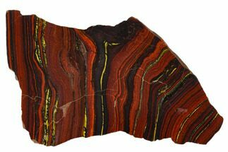 Tiger Iron Stromatolite - Fossils For Sale - #129207