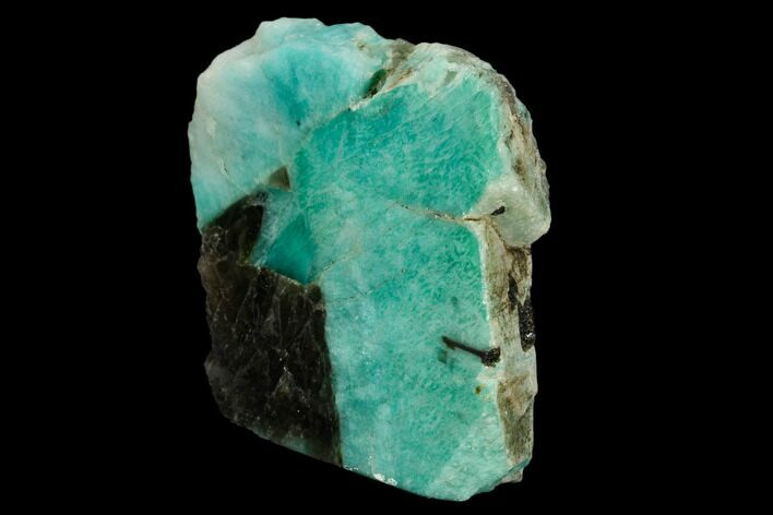 "3.6"" Tall, Single Side Polished Amazonite - Madagascar"