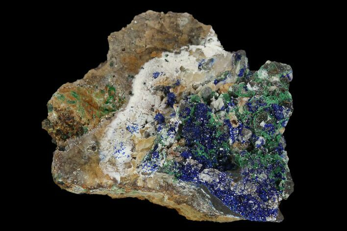 "1.7"" Sparkling Azurite and Malachite Crystal Cluster - Morocco"