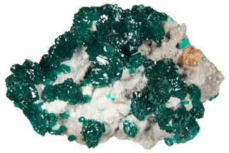 "Buy 2.15"" Gemmy Dioptase Crystals on Dolomite - Ntola Mine, Congo - #130501"