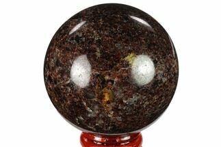 "2.4"" Polished Garnetite Sphere - Madagascar For Sale, #132107"