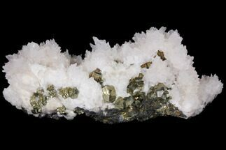 "Buy 4.4"" Manganoan Calcite (Highly Fluorescent) With Pyrite - Peru - #132715"