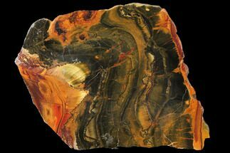 "7.3"" Marra Mamba Tiger's Eye Slab - Mt. Brockman (2.7 Billion Years) For Sale, #133082"