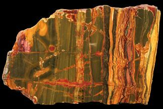 "10"" Marra Mamba Tiger's Eye Slab - Mt. Brockman (2.7 Billion Years) For Sale, #133088"