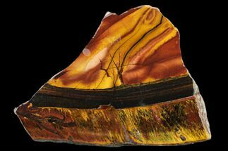 "Buy 5.8"" Marra Mamba Tiger's Eye Slab - Mt. Brockman (2.7 Billion Years) - #133078"