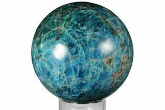 "5.1"" Bright Blue Apatite Sphere - Madagascar For Sale, #133094"