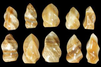 "Buy Wholesale Lot: 3-5"" Polished Calcite ""Flames"" - 10 Pieces - #133861"