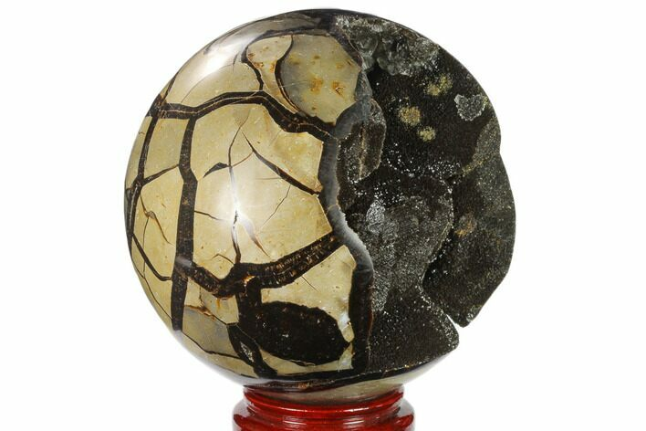 "6.4"" Polished Septarian Geode Sphere - Madagascar"