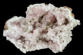 "2.7"" Pink Amethyst Geode Section with Calcite - Argentina For Sale, #134783"