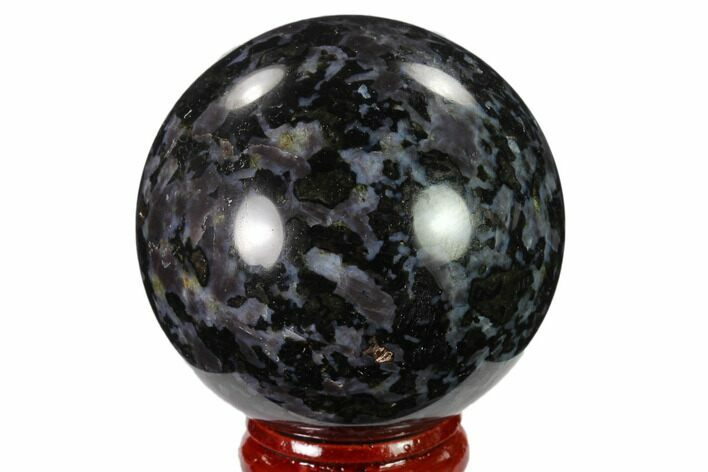 "2.1"" Polished, Indigo Gabbro Sphere - Madagascar"