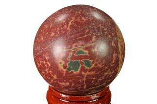 "1.55"" Polished Cherry Creek Jasper Sphere - China For Sale, #136136"