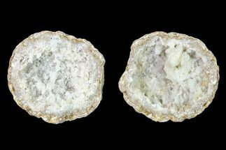 "Buy 3.2"" Keokuk Quartz and Calcite Geode Pair - Iowa - #135667"