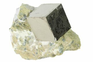 ".61"" Pyrite Cube In Matrix - Navajun, Spain For Sale, #136715"