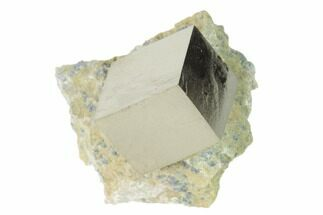 "Buy .66"" Pyrite Cube In Matrix - Navajun, Spain - #136717"