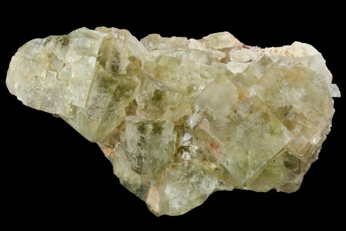 "2.5"" Light-Green, Cubic Fluorite Crystal Cluster - Morocco"
