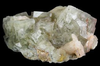 "2.6"" Light-Green, Cubic Fluorite Crystal Cluster with Barite - Morocco For Sale, #138248"