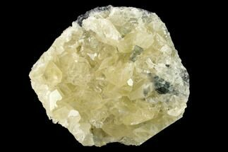 "3.5"" Calcite Crystal Cluster with Green Fluorite - China For Sale, #139121"