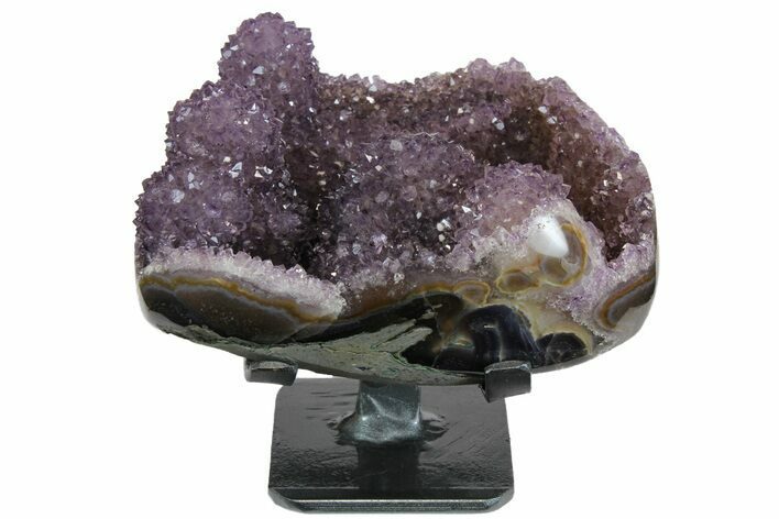 "6.1"" Amethyst ""Stalactite"" Formation on Metal Stand - Uruguay"