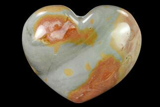 "Buy 4.2"" Wide, Polychrome Jasper Heart - Madagascar - #139960"