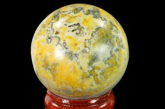 "Buy 1.6"" Polished Bumblebee Jasper Sphere - Indonesia - #139993"