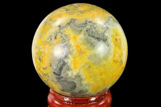 "Buy 1.65"" Polished Bumblebee Jasper Sphere - Indonesia - #139996"