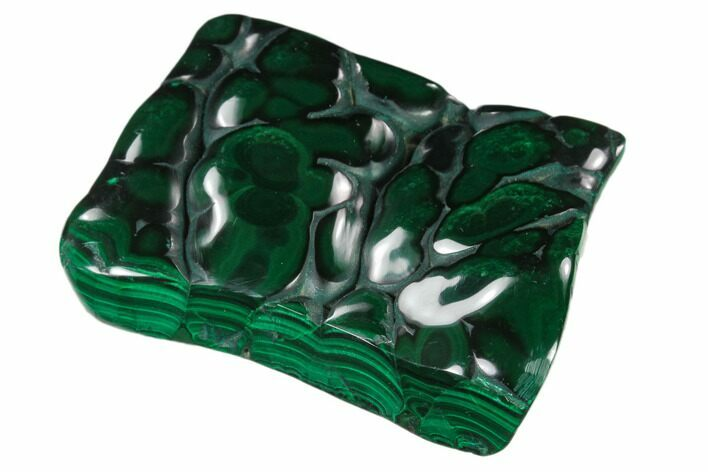 "2.8"" Polished Malachite Specimen - Congo"