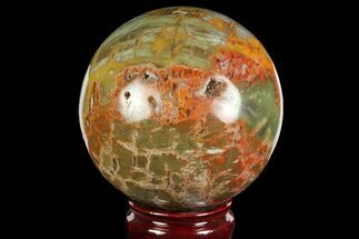 "Buy 3.8"" Polished Colorful Jasper Sphere - Madagascar - #140968"