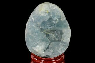 "1.95"" Crystal Filled Celestine (Celestite) ""Egg"" Geode - Madagascar For Sale, #140282"