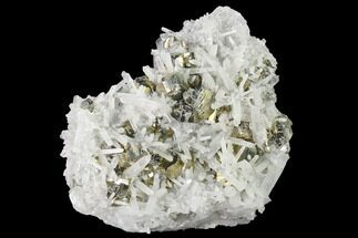 "3.9"" Quartz and Pyrite Crystal Association - Peru For Sale, #141818"