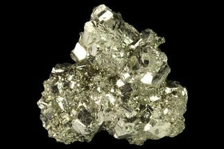 "1.7"" Gleaming Pyrite Crystal Cluster - Peru For Sale, #141824"