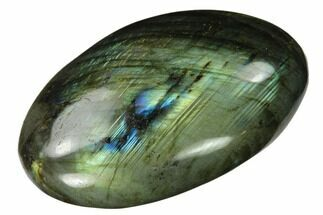 "Buy 2.7"" Flashy, Polished Labradorite Palm Stone - Madagascar - #142810"