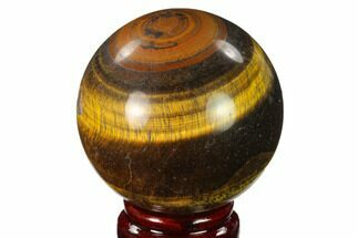 "Buy 2.6"" Polished Tiger's Eye Sphere - Africa - #143251"